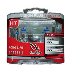 ClearLight H7 12V-55W Vision Plus +50% Light
