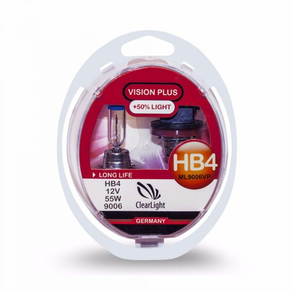 ClearLight HB4 12V-55W Vision Plus +50% Light