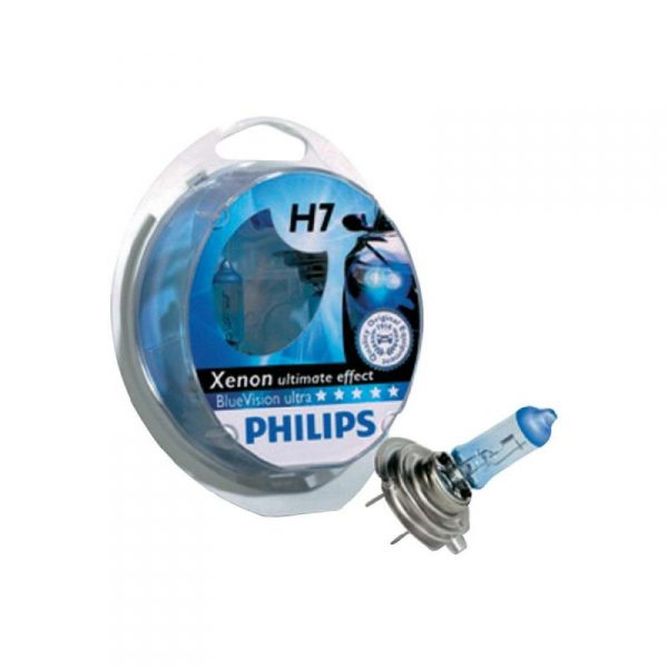 PHILIPS BlueVision Ultra, 12V, 55W, H7